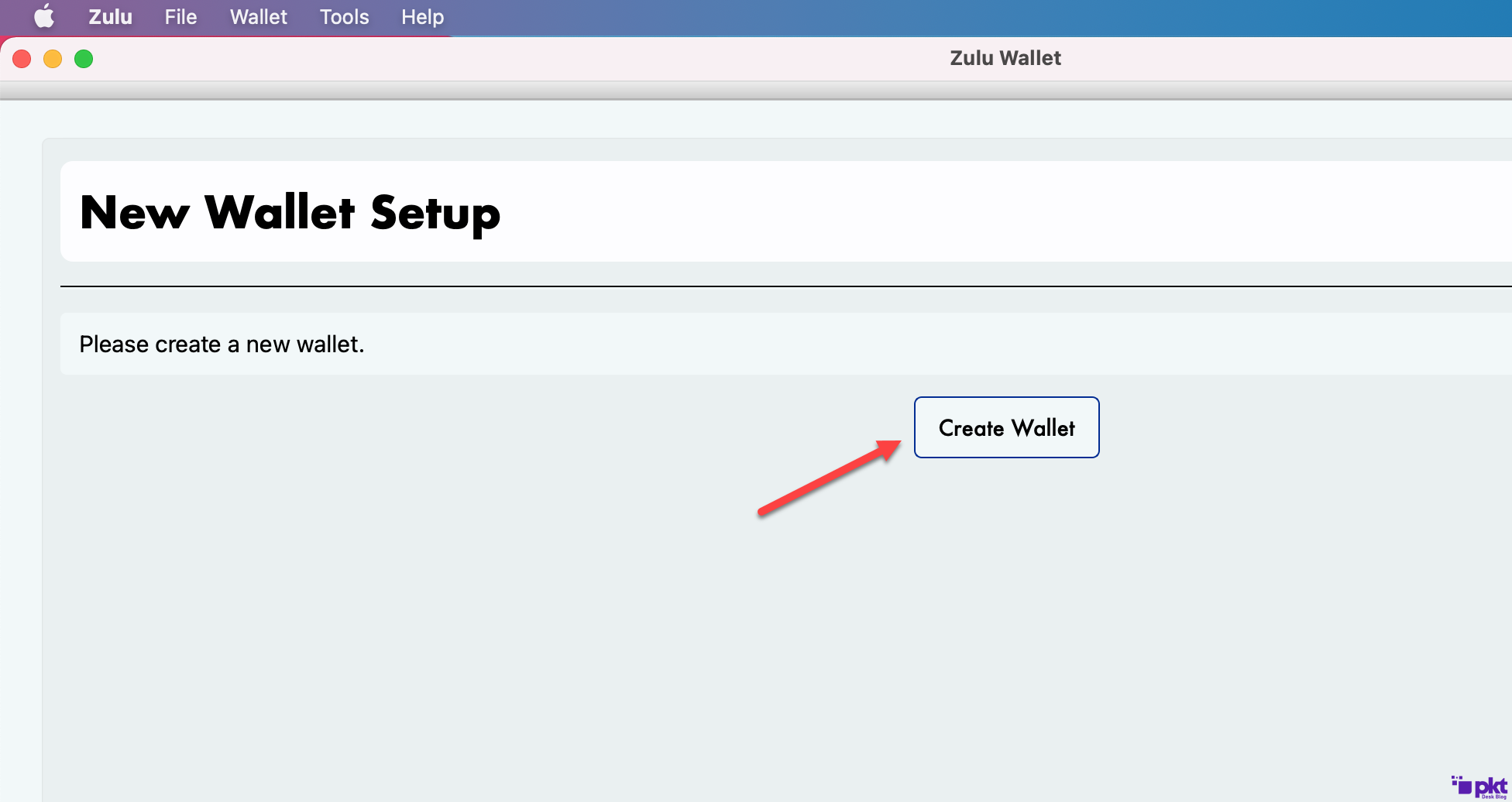 Create a new wallet for Mac