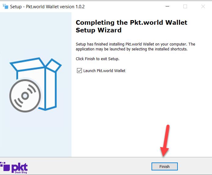 PKT Wallet Installed