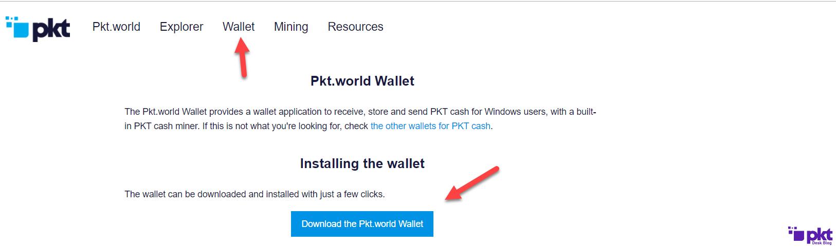 PKT World Wallet