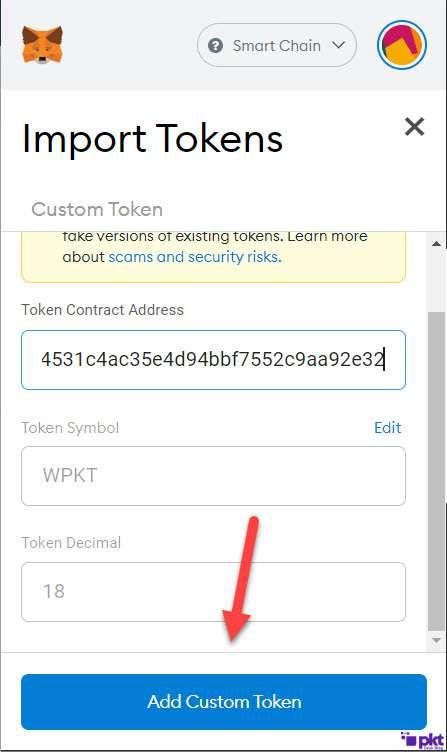 wPKT Token Address